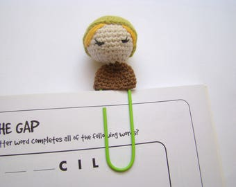 crochet bookmark planner personalized paper clips crochet amigurumi doll bookmarks for kids school bookmarks personalized bookmarks for kids