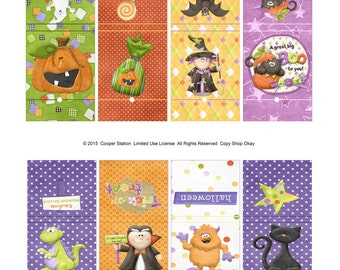Halloween Printable Digital Lollipop Wrappers