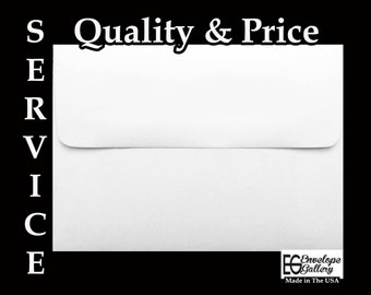 White (100 Pack) Envelopes for Greeting Cards Invitation Announcement Booklet Wedding Response Shower Confirmations A1 A2 A6 A7 A9