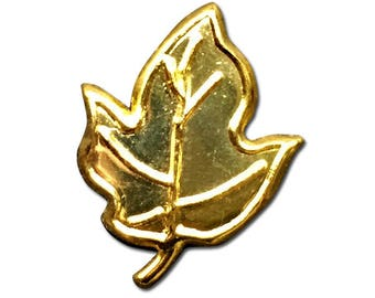 Gold Maple Leaf Brads Embellishment (Pack of 100)