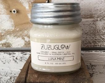 Luna Mint Mason Jar Scented Candle