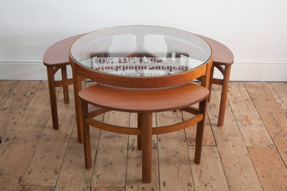 Merveilleux Vintage Nathan Trinity Eye Coffee Table With Nesting Side
