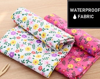 "WATERPROOF Fabric -Floral Pattern, by Yard, 150cm(59"") Width"