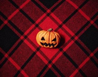 Pumpkin brooch Jack-o-Lantern brooch Evil pumpkin Polymer clay pumpkin Polymer clay Jack-o-lantern Polymer clay brooch Halloween brooch