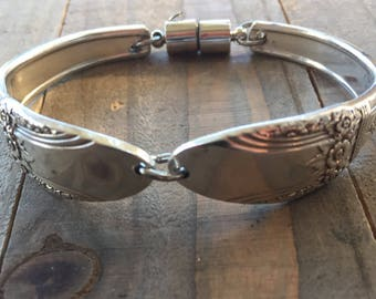 First Love Spoon Bracelet | 1937 First Love jewelry| spoon jewelry, silverware jewelry, silverware bracelet, vintage bracelet, unique gift