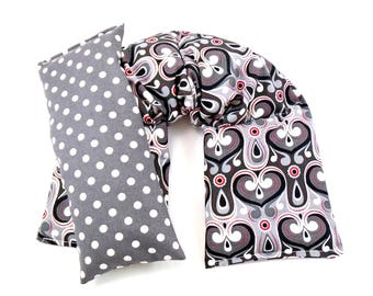 Natural Heat Packs, Neck Wrap Eye Pillow Set Hot/Cold Therapy Organic,Microwaveable Heat Pad Gift Idea