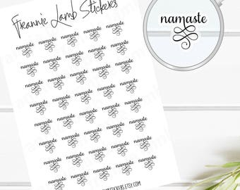 TINY CLEAR Namaste Planner Stickers, Clear Matte Stickers, Text Stickers,  Yoga Stickers, Planner Stickers