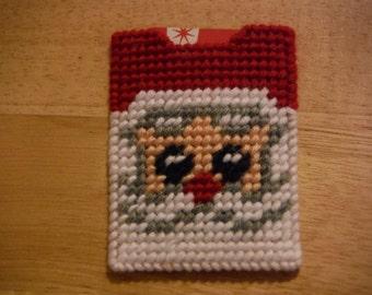 Plastic Canvas Gift Card Holder Santa Claus, needlecraft, Christmas gift, Christmas money card, money holders, christmas gift card
