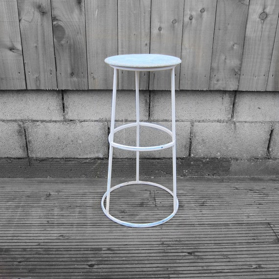 Industrial High Bar Stool - French Mid Century Modernist