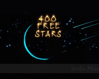 Glow in the Dark Star Ceiling | Cute Little Crescent Moon and Three Shooting Star Decals | 200 - 1000 Star Stickers that Glow