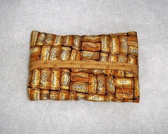 Quilted Tissue Holder - Wine Corks