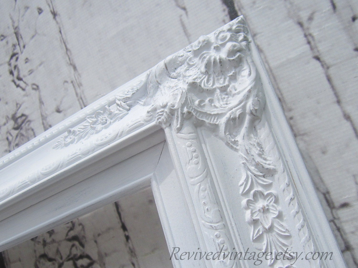 WEDDING PORTRAIT FRAME For Sale White Shabby Chic Picture