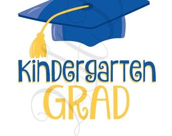 Kindergarten Grad Iron On - Digital Download - You Print