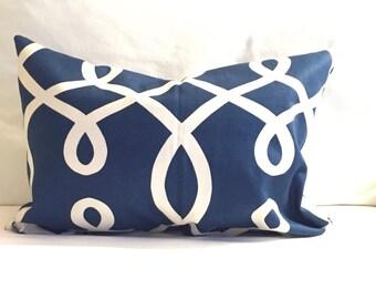 nautical pillow, 12x16 inch cover, pillows, pillow white covers, blue throw pillows, decorative pillows, lumbars, home decor, blue 12x16