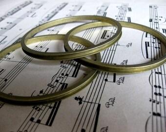 1 PC Raw brass channel bangle bracelet for 18pp rhinestone chain - B755