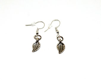 Leaf Earrings Nature Tree Environment