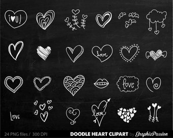 Chalkboard Hearts Clip Art Hand Drawn Clip Art Digital Hearts Clipart  Chalk Drawing Wedding Invitation Chalkboard Valentine's Day