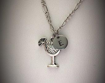 Personalized Margarita necklace * margarita charm * charm necklace * friendship necklace * Initial necklace * monogram