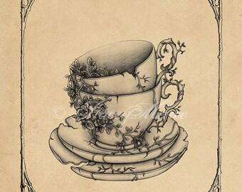 Tea for Two - Fine Art Illustration - Print