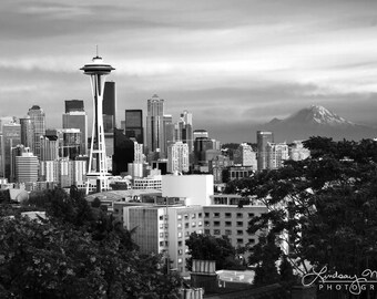 """B&W Seattle Photo 