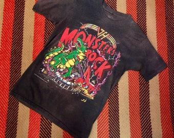 1988 Vintage Van Halen Monsters of Rock Tour Shirt