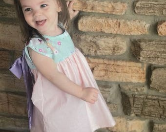 girls dresses, baby dress,spring outfit,toddler dress, unicorn print,family pictures, birthday gift, fun in the sun