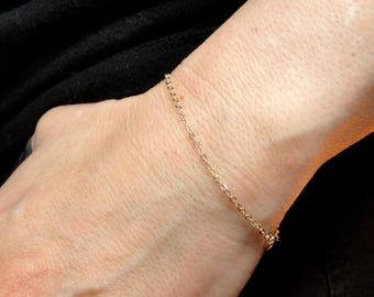 14k gold fill bracelet, Gold fill bracelet, Delicate gold bracelet, Minimalist jewelry, Minimalist bracelet