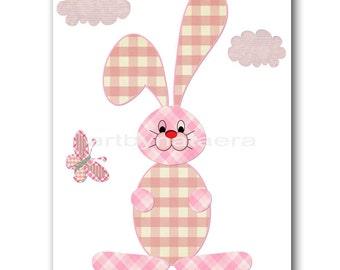 INSTANT DOWNLOAD Hare Nursery Print Printable Art Nursery Digital Download Children Art Baby Girl Nursery Digital Download Art 8x10 11X14