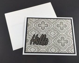 Monochrome Hello - Single Card