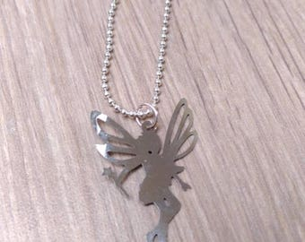 Necklace silver fairy Bell