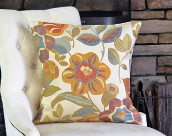 Brown Flower Pillow Cover