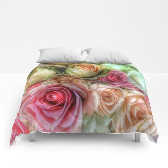ROSES Comforter, Petals Bedding, Flower bedding, Unique, Flower Comforter, Full, Queen, King, Retro, Dorm, Drama, Classic,Boudoir,Valentine