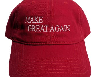 Make (Your Text) Great Again Create Your Own Custom Embroidered Red Dad Hat