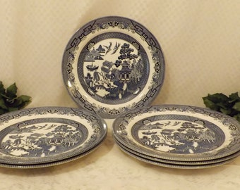Vintage Churchill English Blue Willow Dinner Plate  Replacement