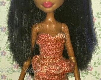 Crochet  Fashion Dress for Monster High