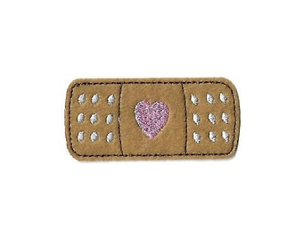 Band-aid - Medical - Love - Nurse - Nursing - College - Embroidered Iron On Applique Patch