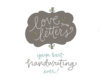 Love Your Letters Workshop 2.0: handwriting class, self-paced, PDF