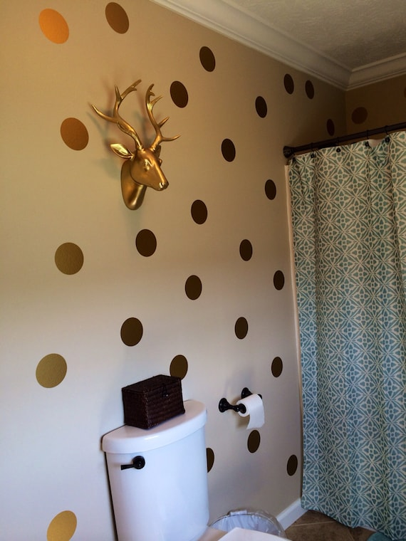 Gold Polka Dots Vinyl Wall Decals Gold Decals Gold Dot