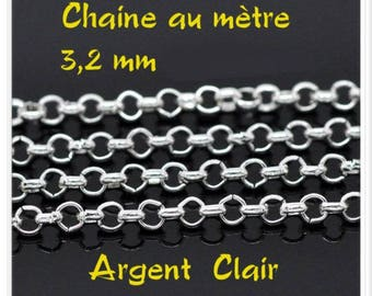 Light meter 3.2 mm silver chain