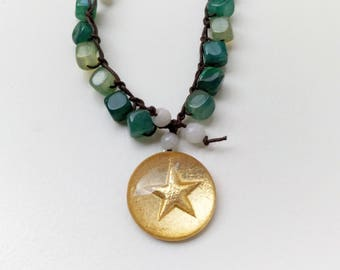 Green Star Necklace
