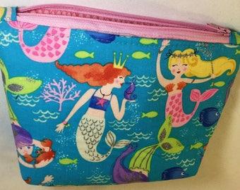 Mermaid Cosmetic Bag Mermaid Makeup Bag Mermaid Zipper Pouch-Gifts for Her Birthday Gift Mermaid Gift Mermaids Mermaid Gift Makeup Bag