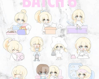 Batch 6 - Teeny and Bop 01 (Kawaii Planner Stickers)