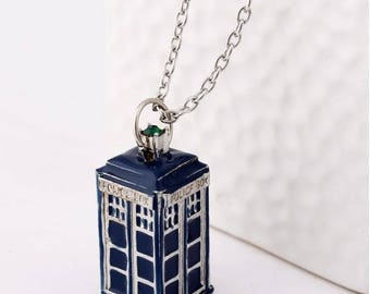 Tardis these police box dr who necklace