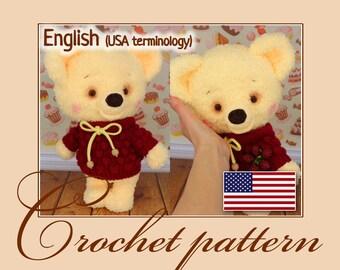 Vanilla bear - Amigurumi Crochet Bear Pattern PDF file by Anna Sadovskaya