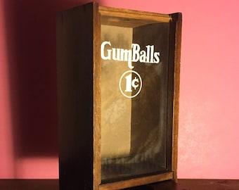 Vintage 1 Cent Gumball Dispenser