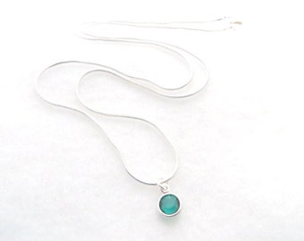 May Birthstone Necklace Taurus Emerald Swarovski Necklace Minimalist Birthday Gift Bridesmaid Gift Wedding Mothers Day Gift For Her
