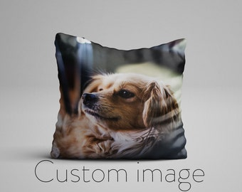 Custom Photo Pillow for Dog Lovers, Custom Pet Photo Pillow, Dog Lover Customized Picture Pillow, Photo On A Pillow, Customizable Pillows