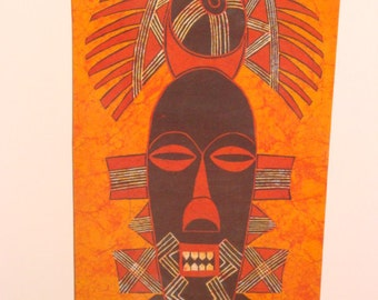 Signed African Silk Screened Print (Genuine)