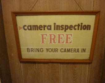 Vintage Camera Store Sign Hand Painted!