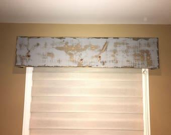 Rustic Wood Cornice / Valance / Window Treatment